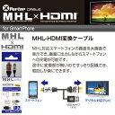 スマホの画面を大画面テレビに表示&充電 MHL-HDMI変換ケーブル 2m【USB Aタイプ オス & Micro Bタイプ オス】【AMHL-2MA】(スマホ...