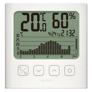 TANITA タニタ グラフ付きデジタル温湿度計 TT-580 ホワイト