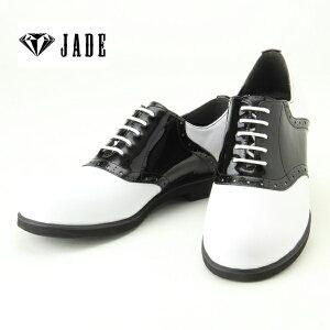 【JADE/ジェイド】JD5511 【ダンスシューズ】ロックポップ ダンサー (ホワイト×ブラック)ヒップホップ ストリート
