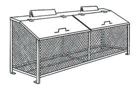 【完成品 送料無料】ゴミステーション ゴミBOX BH-180 ステンレス製NSSC FW2【生ゴミ収納BOX ワンニャンカア 大型ゴミ箱 業務用 屋外 大容量 アパート マンション 町内会 自治会 カラス 猫 対策 ごみ ゴミストッカー】