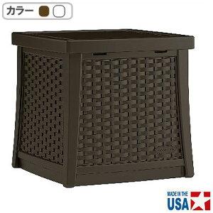 【収納/テーブル/ベランダ】サイドテーブルボックス BMDB1310/BMDB1310W【屋外 ベランダ 家庭用 ベランダ収納】