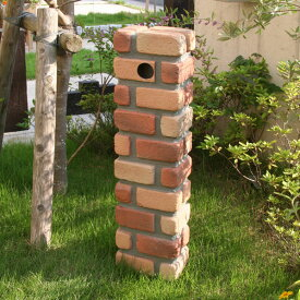 FRP水栓柱カバー ブリック調新 JJ aks-57078【水栓柱 FRP エクステリア ガーデニング 軽量 樹脂 庭 DIY レンガ風 立水栓】
