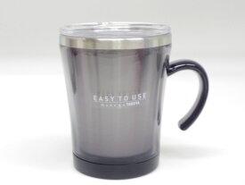 【送料無料(送料込み/一部地域除く)】マグカップ フタ付 サードウェーブ マグ 320ml ブラック ( 保温 マグカップ )【透明フタだから残量が見える2重構造のフタ付き保温マグカップ】