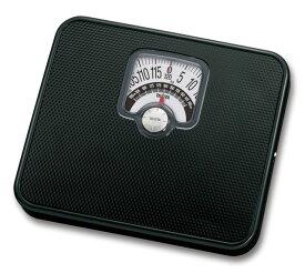 チェッカー付きヘルスメーター ブラック HA-552-BK【肥満度をチェックできるアナログ体重計】