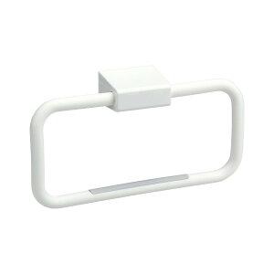 タオルリング(ピン) ホワイト B00045 (タオル掛け)【石こうボード壁に最適!タオルリング】