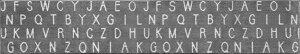 Saltoru? インテリアマット アルファベット柄 45×252cm グレー【フローリングマット 敷物 滑り止め マット 洗濯できる】