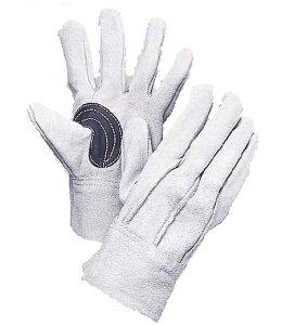 大中産業 牛革手袋 103KR 床革 皮手袋 背縫い革手黒アテ付 10双 フリー(L)サイズ *代金引換不可商品