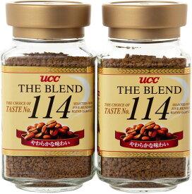 UCC ザ・ブレンド 114 インスタントコーヒー 瓶 90g×2個 珈琲 coffee