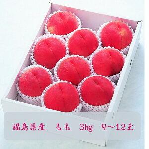 福島県産 もも 3kg(9〜12玉)