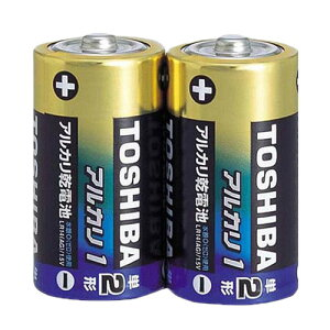 【1本あたり70円(税抜き)】東芝製アルカリ単2形乾電池「アルカリ1」2P×50パック100本入