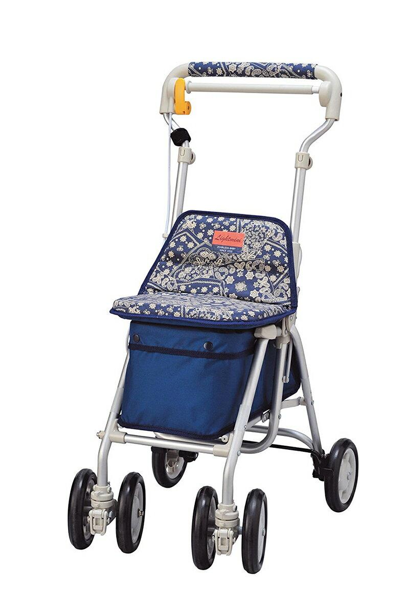 介護 歩行器 シルバーカー 福祉 ライトミニNW 象印ベビー シルバーカー 歩行器 座面つきタイプ [SG規格適合商品]