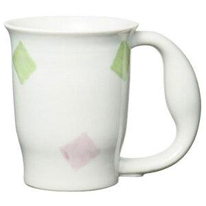 ほのぼのマグカップ (スクエアー) 介護用品 食事 介護食事 食器 食事用 介護 介護用 介護食器 湯のみ コップ カップ マグカップ