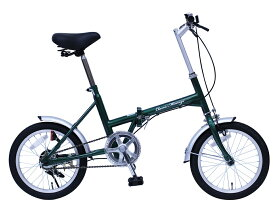 折りたたみ自転車 クラシックミムゴ 16インチ Classic Mimugo FDB16G グリーン MG-CN16G