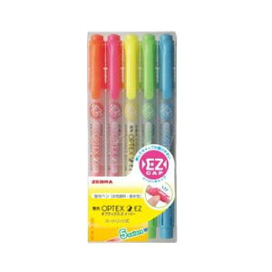 ゼブラ 蛍光ペン ZEBRA 蛍光オプテックス2 EZ 5色セット WKT11-5C