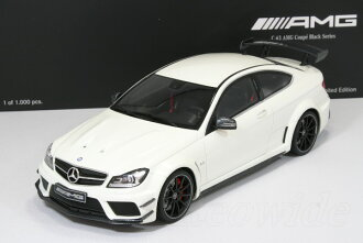 gt spirit 118 mercedes benz c 63 amg coupe black series white 1000 limited edition dealership custom c63