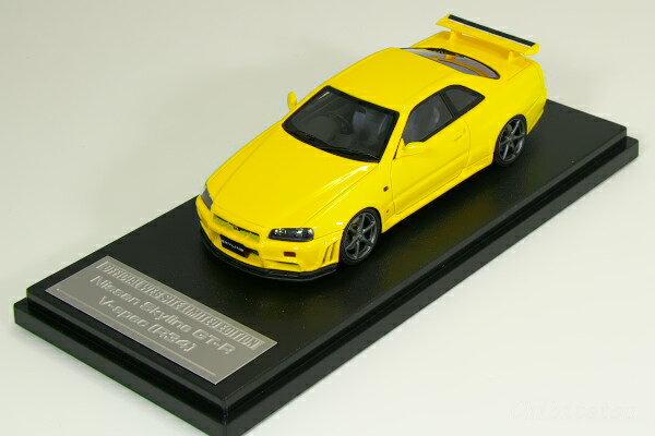 HPI 1/43 #8372 日産 R34 スカイライン GT-R V-spec ライトニング・イエロー 150台限定