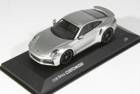 11台限定 ミニチャンプス 1/43 ポルシェ 911 992 ターボS クーペ 2020 GTシルバー ブラックホイール Minichamps 1:43 Porsche 911 (992) Turbo S Coupe 2020 GT-silver Metallic