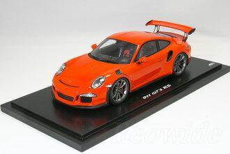 作为经常作为不接收火花 1/18 (991) 保时捷 911 GT3 RS 橙色保时捷经销商自定义模型 911 车型有限