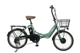 電動アシスト 自転車 アルミ 20インチ 折りたたみ 電動自転車 シマノ 外装 6段変速 PELTECH ペルテック TDN-212L