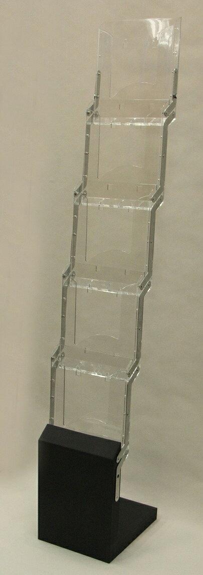 カタログスタンドプラスチック(透明)折りたたみ式【業務用】パンフレットラック