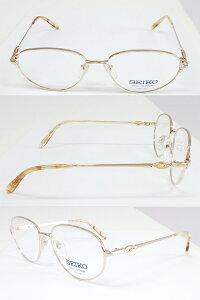 [MZ]【新商品】度付きメガネセット 乱視 度なし 対応 セルフレーム ボストン型 【seiko-t011 サイズ:54□16-135 カラー:ゴールド】【オマケ付(1発送につき1つ)】