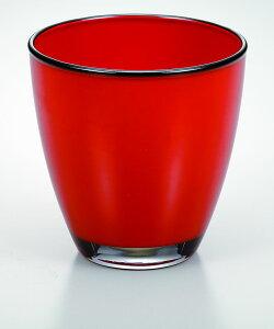 会津塗 漆芸ガラス 漆芸グラスフリーグラス 朱《テーブルに華を添える器として海外向けギフト 記念品にもマイグラスにも最適好評ラッピング可 箱入りです。》