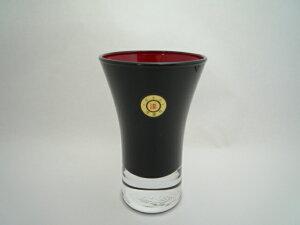 会津塗 漆芸ガラス 漆芸グラス清酒杯 黒内朱《日本酒・ビール用のグラスとして海外向けギフト 記念品にもマイグラスにも最適好評ラッピング可 箱入りです。》