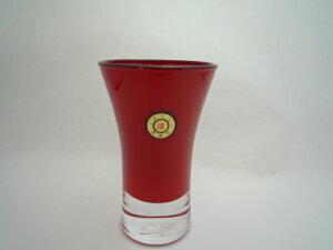 会津塗 漆芸ガラス 漆芸グラス清酒杯 朱《日本酒・ビール用のグラスとして海外向けギフト 記念品にもマイグラスにも最適好評ラッピング可 箱入りです。》