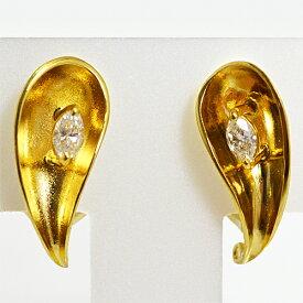 ●Pierre Cardin[ピエールカルダン] K18ゴールド【ダイヤモンド デザインイヤリング】PCE084 [代引不可]【楽ギフ_包装選択】