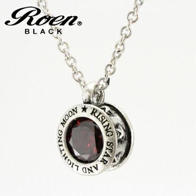 ■Roen BLACK ロエン ブラック【スター 星 レッドキュービック ペンダント】真鍮 シルバーカラー RO-610【楽ギフ_包装選択】 共栄