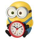 新作【即納在庫あり】ラッピング無料!●リズム時計 クオーツ 目覚まし時計【ミニオンズ ボブ R30】音声アラーム 4REA30ME33 [後…