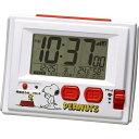 大特価[電池無し]■リズム時計【スヌーピー R126 電波デジタル 温・湿度計付目覚し時計 ジャストウェーブ】8RZ126RH03  [代引不可][…