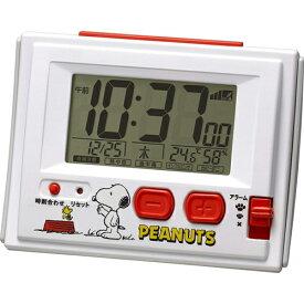大特価[電池無し]■リズム時計【スヌーピー R126 電波デジタル 温・湿度計付目覚し時計 ジャストウェーブ】8RZ126RH03  [後払不可]【楽ギフ_包装選択】