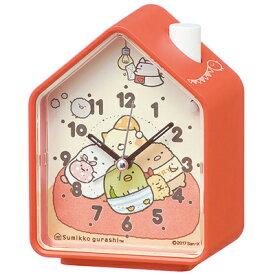 ■SEIKO[セイコー] 目覚まし時計【すみっコぐらし】鳥の鳴き声 オレンジCQ155E [代引不可][後払い不可]【楽ギフ_包装選択】.