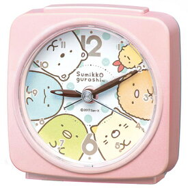 ■SEIKO[セイコー] 目覚まし時計 【すみっコぐらし】ピンクパールCQ156P [代引不可][後払い不可]【楽ギフ_包装選択】