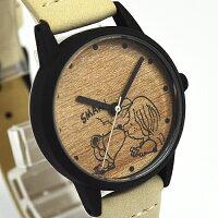 ■フィールドワークウォッチ腕時計【スヌーピーウッドシンプルウォッチ】ホワイトPNT006-1[代引不可]【楽ギフ_包装選択】