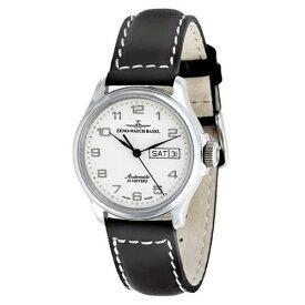 ■ZENO-WATCH BASEL[ゼノウォッチ バーゼル] メンズウォッチ 腕時計【Basic Pilot 自動巻き デイデイト】ホワイト 12836DD-e2【楽ギフ_包装選択】タスク