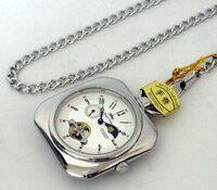 【Royal Polo】機械式〔手巻き〕懐中時計〔C7453P-SS〕【楽ギフ_包装選択】