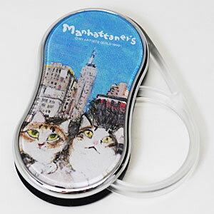 ■Manhattaner's[マンハッタナーズ]【MAN LEDライト付きルーペ3 やっぱりニューヨークは最高だね。】ポケットルーペ スウィングルーペ 071067【楽ギフ_包装選択】