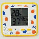■RHYTHM[リズム時計] 【ミッフィー T203 高精度 温・湿度計】イエロー 室内環境注意報表示 8RD203MM33【楽ギフ_…