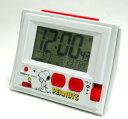 ■リズム時計【スヌーピー R126 電波デジタル 温・湿度計付目覚し時計 ジャストウェーブ】8RZ126RH03【楽ギフ_包装選択】