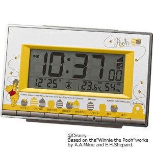 ■リズム時計 アラームデジタル【ディズニー くまのプーさん】電波目覚まし時計 8RZ133MC08【楽ギフ_包装選択】.