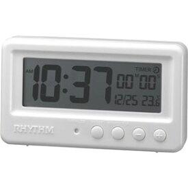 リズム時計■バスクロック*防水防塵*【アクアプルーフ】デジタル タイマー付き ホワイト 8RDA72SR03 [代引不可]【楽ギフ_包装選択】