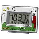 ■リズム時計[RHYTHM]【スヌーピー デジタル電波めざまし時計】温湿度計 白 8RZ187-M03【楽ギフ_包装選択】