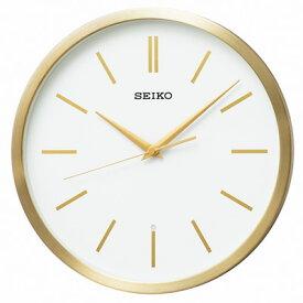 ■SEIKO[セイコー] 【電波掛時計】アルミ枠 金色 KX226G [代引不可]【楽ギフ_包装選択】