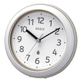 リズム時計■バスクロック*防水防塵*【アクアパークDN】掛置兼用時計 グレー 4KG711DN08 [代引不可][後払い不可]【楽ギフ_包装選択】