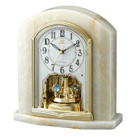 ■リズム時計 電波置時計【RHG-S48 オニックス枠時計】回転飾り 4RY685HG05 [代引不可]【楽ギフ_包装選択】.