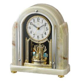 ■リズム時計 電波置時計【RHG-S54 オニックス枠時計】回転飾り 4RY692HG05 [代引不可]【楽ギフ_包装選択】.