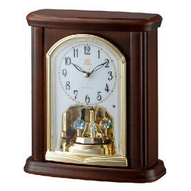 ■リズム時計 電波置時計【RHG-S63】回転飾り 木枠 4RY697HG06 [代引不可]【楽ギフ_包装選択】.