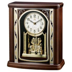 [代引き不可]■リズム時計 電波置時計【RHG-S79】回転飾り 木枠 日本組立 4RY698HG06【楽ギフ_包装選択】.